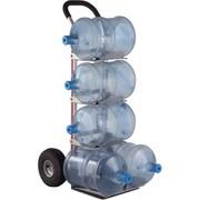 Magliner – Diable en aluminium pour 5 bouteilles, Matériau des roues : Pneumatique (HBK128HM4)