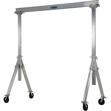 Vestil – Grue à portique réglable en aluminium, capacité 4000 lb (2 tonnes), longueur globale du faisceau 12 pi (AHA-4-12-10)