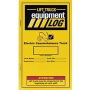 Forklift Replacement Truck Log Book for Electric Counterbalance Trucks Only, Lu451