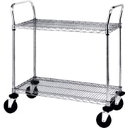 "Heavy-Duty Utility Carts, Capacity: 900 Lbs., Overall Height: 39"", Overall Width: 24"", No. of Shelves: 3 (3SPN53DC)"