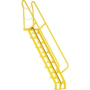 Vestil Alternating-Tread Stairs, No. of Steps: 12, Material: Steel (ATS-7-68)