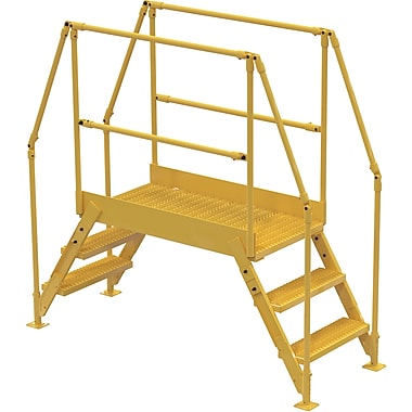 Vestil Crossover Ladder, Platform Height: 30
