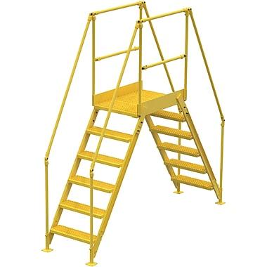 Vestil Crossover Ladder, Platform Height: 60