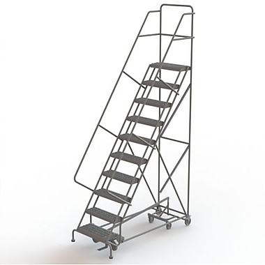 Tri-Arc Manufacturing All Directional Rolling Ladder, No. of Steps: 10, Platform Height: 100