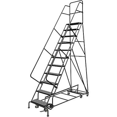 Tri-Arc Manufacturing – Échelle roulante à directions multiples, 11 marches, hauteur de plateforme de 110 po (KDED111246)