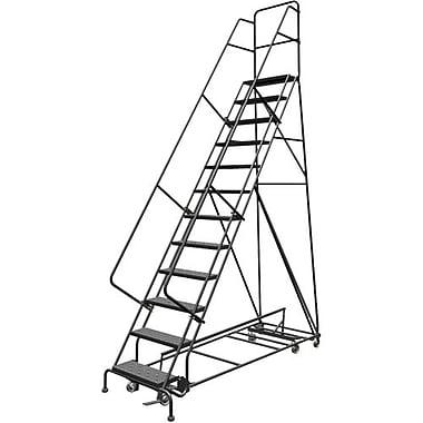 Tri-Arc Manufacturing – Échelle roulante à directions multiples, 12 marches, hauteur de plateforme de 120 po (KDED112246)