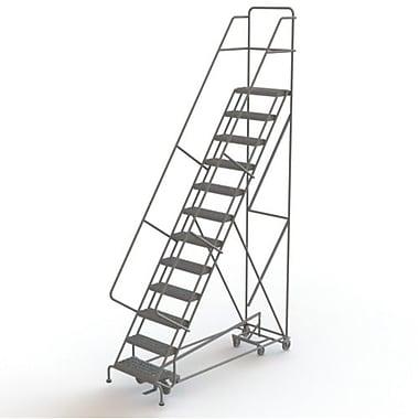 Tri-Arc Manufacturing – Échelle roulante multidirectionnelle, 12 marches, hauteur de plateforme de 120 po (KDED112242)