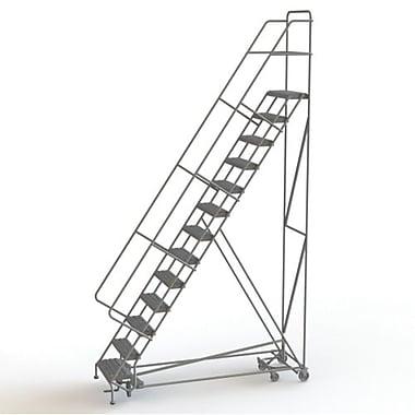 Tri-Arc Manufacturing – Échelle roulante multidirectionnelle, 13 marches, hauteur de plateforme de 130 po (KDED113242)