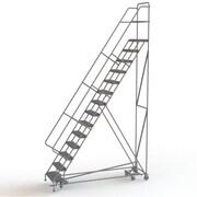 Tri-Arc Manufacturing – Échelle roulante multidirectionnelle, 14 marches, hauteur de plateforme de 140 po (KDED114242)