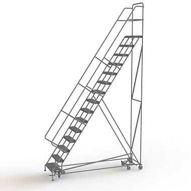 Tri-Arc Manufacturing All Directional Rolling Ladder, No. of Steps: 15, Platform Height: 150