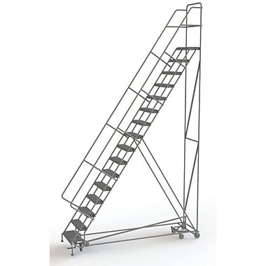 Tri-Arc Manufacturing All Directional Rolling Ladder, No. of Steps: 16, Platform Height: 160