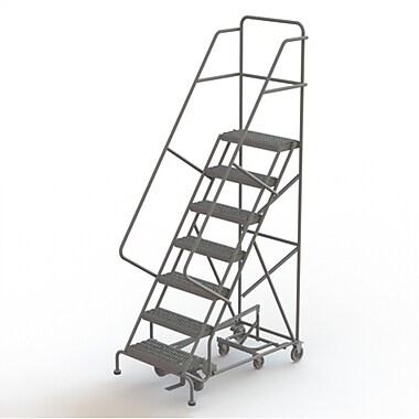 Tri-Arc Manufacturing – Échelle roulante multidirectionnelle, 7 marches, profondeur de plateforme de 10 po (KDED107242)