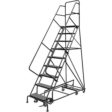 Tri-Arc Manufacturing All Directional Rolling Ladder, No. of Steps: 9, Platform Height: 90