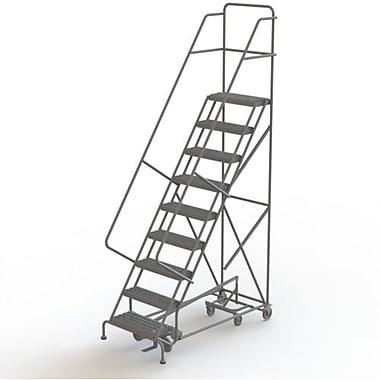 Tri-Arc Manufacturing – Échelle roulante multidirectionnelle, marches : 9, hauteur : 90 po, profondeur : 10 po (KDED109242)