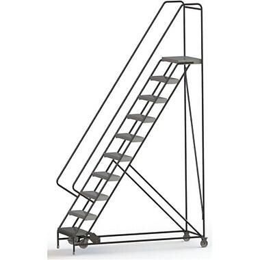 Tri-Arc Manufacturing – Échelle roulante en alum., larg. marche : 24 po, type marche : à nervures, marches : 10 (WLAR110244)