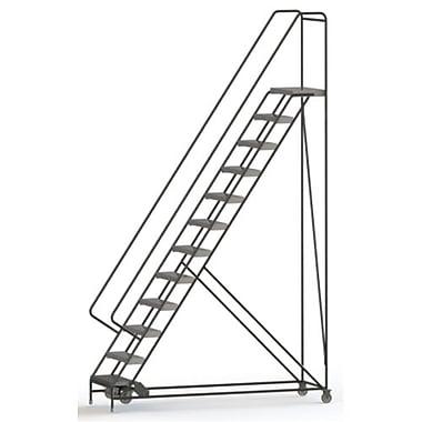 Tri-Arc Manufacturing – Échelle roulante en alum., larg. marche : 24 po, type de marche : à nervures, marches : 12 (WLAR112244)