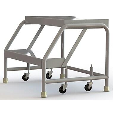 Tri-Arc Manufacturing – Échelle roulante en alum., larg. marche : 24 po, type de marche : à nervures, marches : 2 (WLAR002244)
