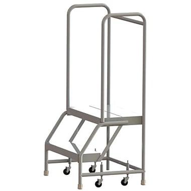 Tri-Arc Manufacturing – Échelle roulante en aluminium, larg. de marche de 24 po, marche de type strié, 2 marches (WLAR102244)