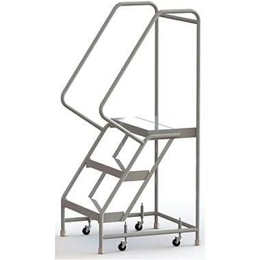 Tri-Arc Manufacturing – Échelle roulante en aluminium, larg. de marche de 24 po, marche de type strié, 3 marches (WLAR103244)