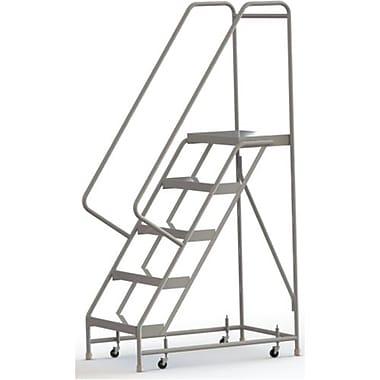 Tri-Arc Manufacturing – Échelle roulante en aluminium, larg. de marche de 24 po, marche de type strié, 5 marches (WLAR105244)