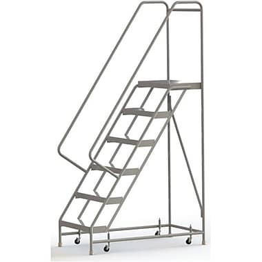 Tri-Arc Manufacturing – Échelle roulante en aluminium, larg. de marche de 24 po, marche de type strié, 6 marches (WLAR106244)