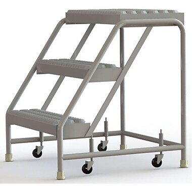 Tri-Arc Manufacturing Aluminum Rolling Ladder, Step Width: 24