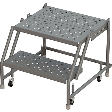 Tri-Arc Manufacturing Deep Top Step Rolling Ladder, Platform Height: 20