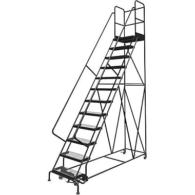 Tri-Arc Manufacturing Deep Top Step Rolling Ladder, Platform Height: 120