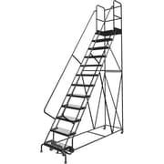 Tri-Arc Manufacturing – Escabeau roulant avec marche; Hauteur : 120 po, marches : 12, largeur : 24 po (KDSR112242-D2)