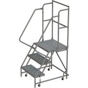 Tri-Arc Manufacturing – Escabeau roulant avec marche supérieure profonde; 30 po haut.; 3 marches; 24 po larg.