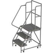 Tri-Arc Manufacturing – Escabeau roulant avec marche supérieure profonde; 30 po haut.; 3 marches; 24 po larg. (KDSR103242-D2)