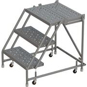 Tri-Arc Manufacturing – Escabeau roulant, marche sup. prof.; haut. platef. : 30 po, marches : 3, largeur : 16 po (KDSR003166-D2)