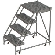 "Tri-Arc Manufacturing Deep Top Step Rolling Ladder, Platform Height: 40"", No. of Steps: 2, Step Width: 16"" (KDSR004162-D2)"