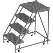 Tri-Arc Manufacturing – Escabeau roulant avec marche supérieure profonde; 40 po haut.; 2 marches; 16 po larg. (KDSR004162-D2)