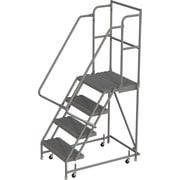 Tri-Arc Manufacturing – Escabeau roulant avec marche supérieure profonde; 40 po haut.; 4 marches; 16 po larg. (KDSR104162-D2)