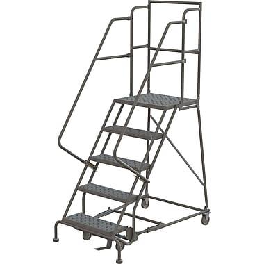 Tri-Arc Manufacturing Deep Top Step Rolling Ladder, Platform Height: 50