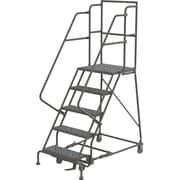 """Tri-Arc Manufacturing Deep Top Step Rolling Ladder, Platform Height: 50"""", No. of Steps: 5, Step Width: 24"""" (KDSR105246-D2)"""