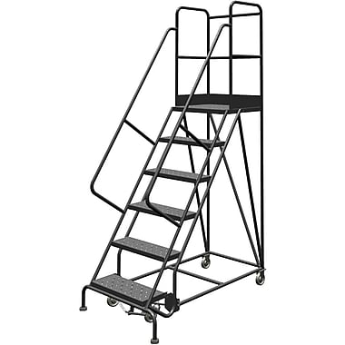 Tri-Arc Manufacturing Deep Top Step Rolling Ladder, Platform Height: 60