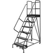 Tri-Arc Manufacturing – Escabeau roulant avec marche supérieure profonde; 60 po haut.; 6 marches; 24 po larg. (KDSR106246-D2)