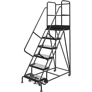 Tri-Arc Manufacturing – Escabeau roulant avec marche supérieure profonde; 60 po haut.; 6 marches; 24 po larg. (KDSR106242-D2)