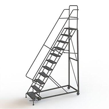Tri-Arc Manufacturing – Escabeau roulant très robuste, hauteur : 110 po, marche dentelée, profondeur : 83 po (KDHD111242)
