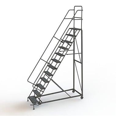Tri-Arc Manufacturing – Escabeau roulant très robuste, hauteur : 120 po, marche dentelée, profondeur : 90 po (KDHD112242)