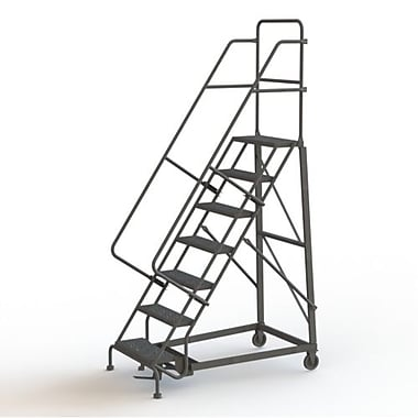 Tri-Arc Manufacturing Heavy Duty Rolling Ladder, Platform Height: 70