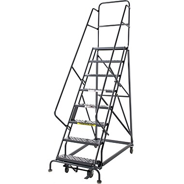 Tri-Arc Manufacturing Heavy Duty Rolling Ladder, Platform Height: 80