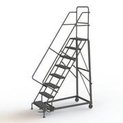 Tri-Arc Manufacturing – Escabeau roulant très robuste, hauteur : 80 po, marche dentelée, profondeur : 63 po (KDHD108242)
