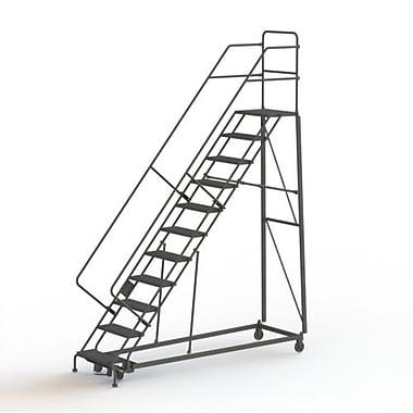Tri-Arc Manufacturing – Échelle robuste en angle de sécurité, 11 marches, incl. de 50 degrés, larg. de 24 po (KDHS111246)