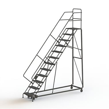 Tri-Arc Manufacturing Heavy Duty Safety Slope Ladder, No. of Steps: 12, Step Incline: 50 degree, Step Width: 24
