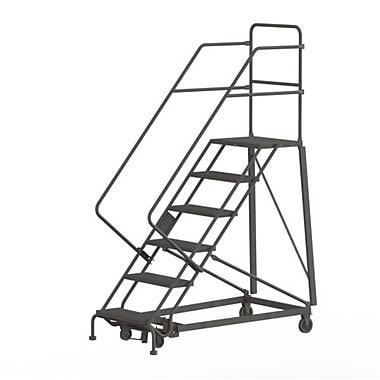 Tri-Arc Manufacturing – Échelle robuste en angle de sécurité, 6 marches, incl. de 50 degrés, larg. de 24 po (KDHS106242)