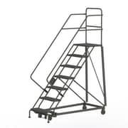 Tri-Arc Manufacturing – Échelle robuste en angle de sécurité, 7 marches, incl. de 50 degrés, larg. de 24 po (KDHS107242)