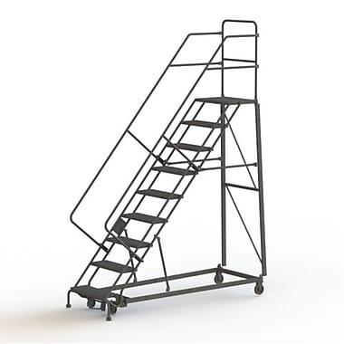 Tri-Arc Manufacturing – Échelle robuste en angle de sécurité, 9 marches, incl. de 50 degrés, larg. de 24 po (KDHS109242)